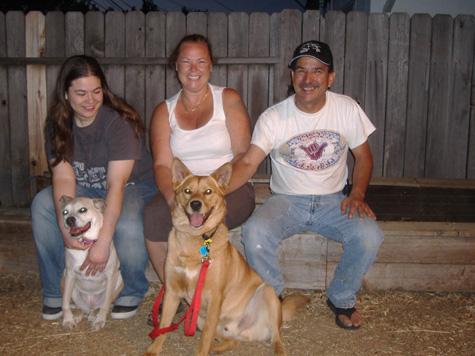 Kasey and his new family in Vallejo, CA!